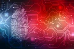 Fingerprint Scanning on digital screen, Security background. Security concept: fingerprint Scanning on digital screen, Internet Security Background Royalty Free Illustration