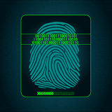 Fingerprint scanning - digital security system, biometric. System of fingerprint scanning - security devices Stock Photography