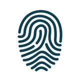 Fingerprint scanning icon - vector. Fingerprint scanning icon – stock vector Stock Photo
