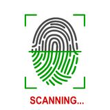 Fingerprint scanning icon for apps with security unlock. – stock vector Stock Photography