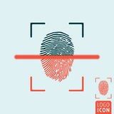 Fingerprint scanning icon Royalty Free Stock Photography