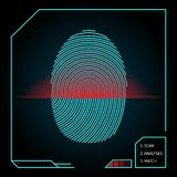 Fingerprint scanning and identification Royalty Free Stock Images