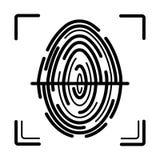 Fingerprint scanning line icon vector illustration