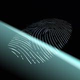 Fingerprint scanning. Stock illustration. Royalty Free Stock Images