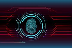 Fingerprint Scanning Technology Concept Illustration. Illustration of Fingerprint Scanning Technology Concept Illustration Royalty Free Stock Photography