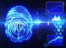 Fingerprint scanning technology. Fingerprint scanning futuristic technology concept Royalty Free Stock Image