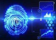 Fingerprint scanning technology Royalty Free Stock Image