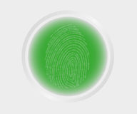 Fingerprint scanning Royalty Free Stock Images