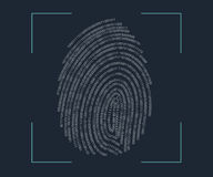 Fingerprint scanning Stock Photos