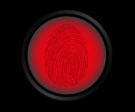 Fingerprint scanning Stock Images