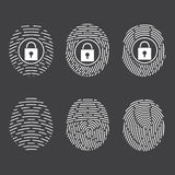 Fingerprint scanning. Vector Security system. Digital lock Royalty Free Stock Image