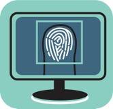 Fingerprint on screen Royalty Free Stock Image