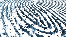 Fingerprint Security abstract vector illustration