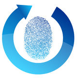 Fingerprint security check illustration design. Over white Royalty Free Stock Photography