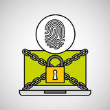 Fingerprint security internet technology. Vector illustration eps 10 Stock Photos