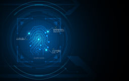 Fingerprint security pattern hi tech design concept background Royalty Free Stock Images