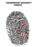 Fingerprint security points royalty free stock photo