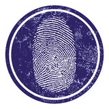 Fingerprint sign Stock Images