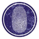 Fingerprint sign. Vector illustration of an isolated fingerprint sign Stock Images