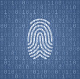 Fingerprint Signature In Binary Code. Illustration on the subject of Cybersecurity Stock Photo
