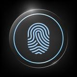 fingerprint Skanująca palcowa ikona ilustracja wektor