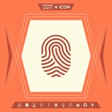 fingerprint Skanująca palcowa ikona ilustracji