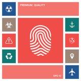 fingerprint Skanująca palcowa ikona elementy projektów galerii ikony widzą odwiedzić twój więcej moich piktogramy proszę ilustracja wektor