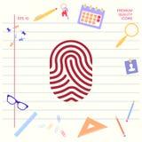 fingerprint Skanująca palcowa ikona Graficzni elementy dla twój projekta royalty ilustracja