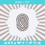 fingerprint Skanuj?ca palcowa ikona Graficzni elementy dla tw?j projekta ilustracja wektor