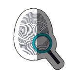 Fingerprint and smartphone design. Fingerprint and smartphone icon. Identity security print and privacy theme. Isolated design. Vector illustration Stock Image