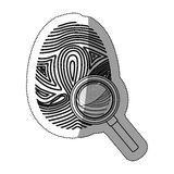 Fingerprint and smartphone design Royalty Free Stock Photo