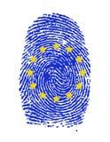 Fingerprint stamp. On white paper for European Flag illustration Stock Photos