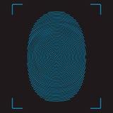 Fingerprint. Stylized vector image of the fingerprint Royalty Free Stock Photos