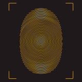 Fingerprint. Stylized vector image of the fingerprint Stock Photos