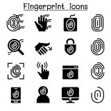 Fingerprint System icons. Vector illustration Graphic Design Royalty Free Stock Photo