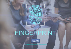 Fingerprint Technology Futuristic Coding Digital Concept Royalty Free Stock Images