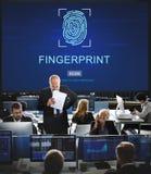 Fingerprint Technology Futuristic Coding Digital Concept Stock Image