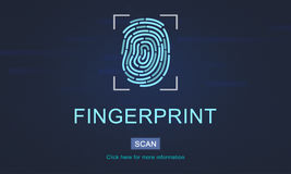 Fingerprint Technology Futuristic Coding Digital Concept stock images