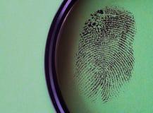 Black fingerprint macro royalty free stock photography