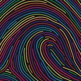 Fingerprint (vector). Digital painting hash to the computer Royalty Free Stock Photography