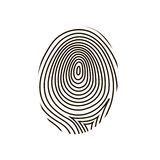 Fingerprint vector Stock Image