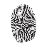 Fingerprint. Vector black isolated fingerprint on white background Royalty Free Stock Images