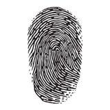 Fingerprint. Vector black isolated fingerprint on white background Royalty Free Stock Photography
