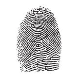 Fingerprint. Vector black isolated fingerprint on white background Royalty Free Stock Photo