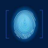 Fingerprint vector. Fingerprint human identity mark blue  vector illustration Royalty Free Stock Image