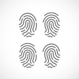 Fingerprint vector icon. Fingerprints vector icons set illustration Royalty Free Stock Photos