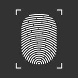 Fingerprint vector icon. Royalty Free Stock Photos