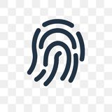 Fingerprint vector icon isolated on transparent background, Fing royalty free illustration