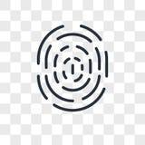Fingerprint vector icon isolated on transparent background, fingerprint logo design. Fingerprint vector icon isolated on transparent background, fingerprint logo Stock Photography