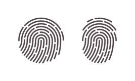 Fingerprint vector finger print scan logo icons. Fingerprint vector icons for finger print scan or security logo Stock Images